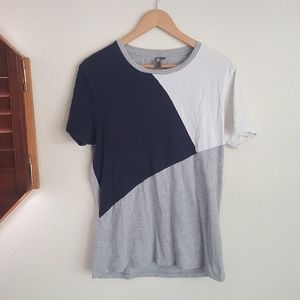 Asos Mesh Panel Gray And Black Shirt Size Medium